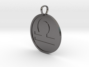 Libra Medallion in Polished Nickel Steel