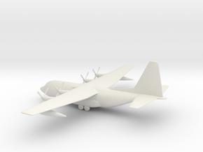 Lockheed C-130 Hercules in White Natural Versatile Plastic: 1:144