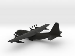 Lockheed C-130 Hercules in Black Natural Versatile Plastic: 1:350
