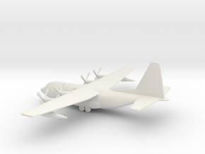 Lockheed C-130 Hercules in White Natural Versatile Plastic: 1:350