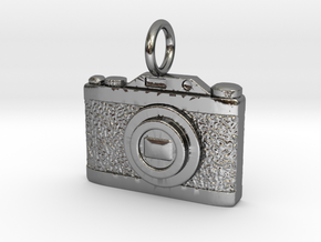Vintage Camera - Instagram in Fine Detail Polished Silver