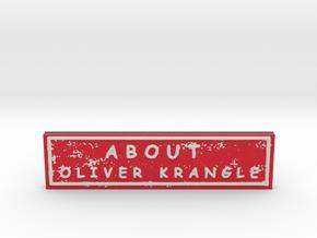 About Oliver Krangle in Natural Full Color Sandstone