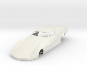 79 Corvette Pro Modified/VR Extreme Slot Car Body in White Natural Versatile Plastic