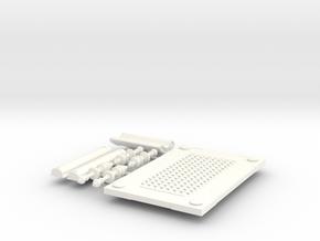ROMAN BENCH in White Processed Versatile Plastic
