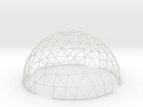 Geodesic Hemisphere, 8-frequency in White Natural Versatile Plastic