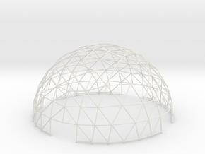 Geodesic Hemisphere, 8-frequency in White Natural Versatile Plastic