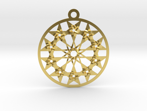 Twelve 5 pointed Stars in Polished Brass