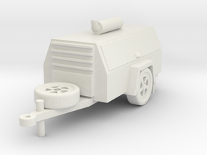 Printle Thing Compressor Trailer - 1/24 in White Natural Versatile Plastic