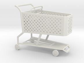 1:24 Shopping Cart in White Natural Versatile Plastic