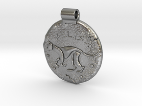 Iron Age Cat Pendant in Natural Silver
