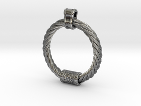Iron Age Cat Torq Pendant in Antique Silver