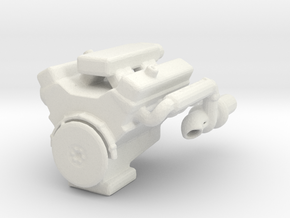 Printle Thing V8 Engine - 1/24 in White Natural Versatile Plastic