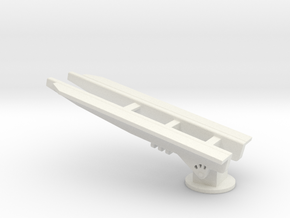 1/128 Scale USS Los Angeles CA135 Hanger Cover 195 in White Natural Versatile Plastic