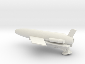 1/128 Scale Regulus Sub Launcher with Missile in White Natural Versatile Plastic