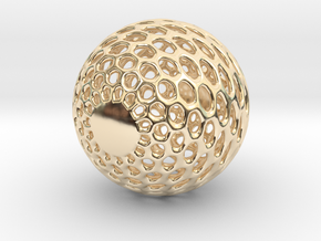 sphere in 14K Yellow Gold