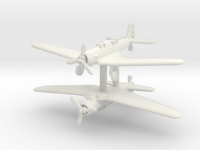 Northrop A-17A Nomad Pair 1/285 in White Natural Versatile Plastic