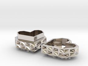 Heart Jewelry Box in Platinum