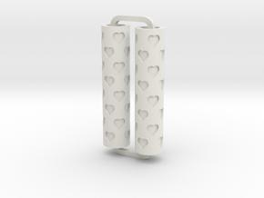 Slimline Pro hearts 02 lathe in White Natural Versatile Plastic