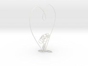 lover's sculpture in White Natural Versatile Plastic