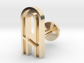Letter A in 14k Gold Plated Brass