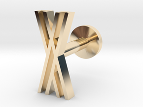 Letter X in 14k Gold Plated Brass