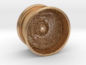 RC Car Rim 1:14 Hexagonal Grid 03 in Natural Bronze (Interlocking Parts)
