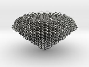 Diamond Hexagon in Natural Silver
