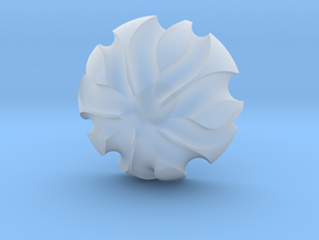 3K Collection - Flower Ring (Top) in Smooth Fine Detail Plastic