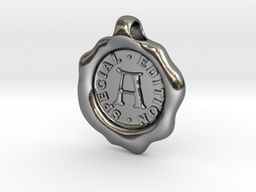 Seal Pendant A in Polished Silver