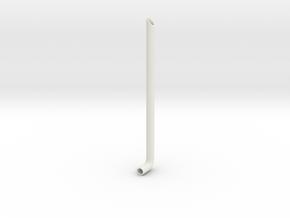 1/24 scale Peterbilt 389 muffler RH in White Natural Versatile Plastic
