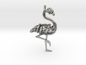 Flamingo Pendant in Natural Silver