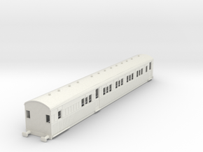 o-76-secr-continental-brake-first-coach in White Natural Versatile Plastic
