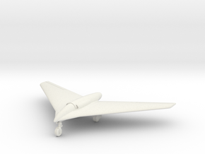 "(1:144) Horten Ho X ""Volksjäger"" (Wheels down) in White Natural Versatile Plastic"