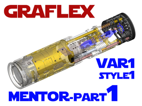Graflex Mentor - Var1 Part01 - Energy channels S1 in White Natural Versatile Plastic