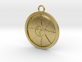 Sunlight Medal in Natural Brass