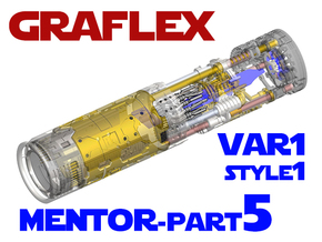 Graflex Mentor - Var1 Part05 - CyclingGen - Style1 in White Natural Versatile Plastic