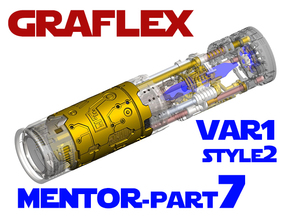 Graflex Mentor - Var1 Part07 - Plates - Style2 in White Natural Versatile Plastic