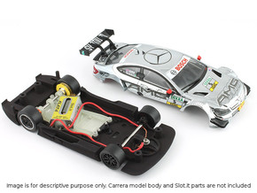 S03-ST1 Chassis for Carrera Merc. DTM STD/LMP in White Strong & Flexible Polished