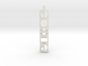 Power Pendent in White Natural Versatile Plastic
