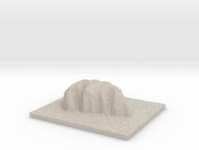 Model of Uluru National Park in Natural Sandstone