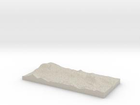 Model of Arroyo Grande in Natural Sandstone
