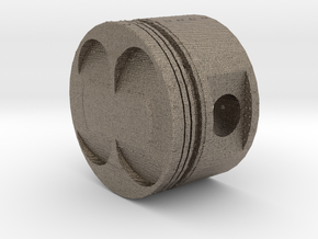 Hollow Piston with Hexagon Core in Matte Bronzed-Silver Steel