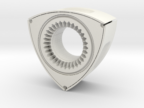 Hollow Rotor with Hexagon Core in White Natural Versatile Plastic