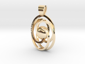 Abstract atom [pendant] in 14k Gold Plated Brass