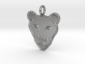 Cute Lioness in Natural Silver