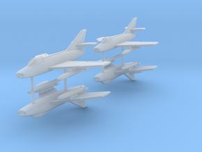 1/285 (6mm) Dassault Super Mystere (x4) in Smooth Fine Detail Plastic