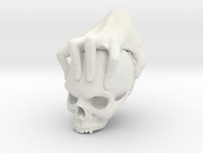 Hand holding a skull in White Natural Versatile Plastic