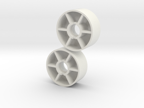 Front wheel -0,25mm  in White Natural Versatile Plastic