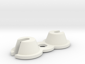 1409 Offset Spring Bucket (pair) in White Natural Versatile Plastic