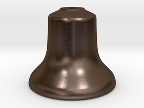"Old Style Bell 1.5"" scale in Polished Bronze Steel"